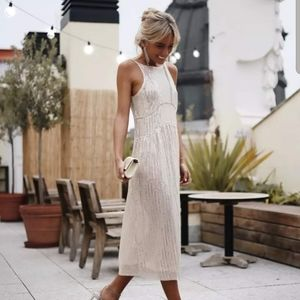 [Zara] sparkly midi slip dress